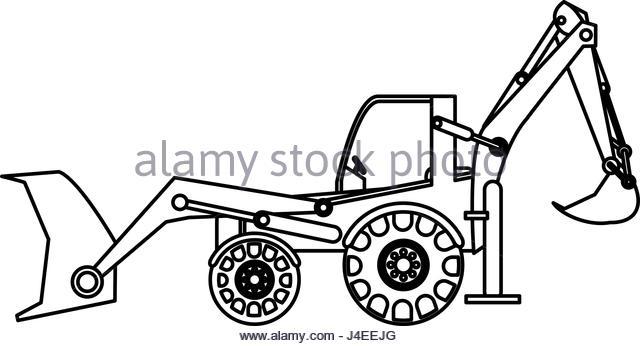 640x346 Excavator Black And White Stock Photos Amp Images
