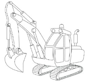 285x266 How To Draw Excavators Howstuffworks