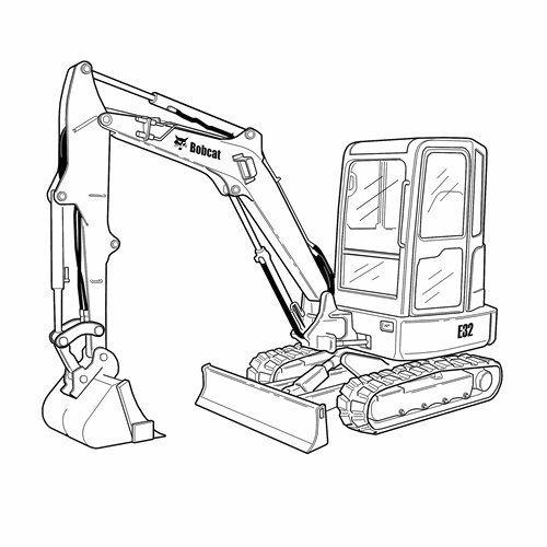 500x500 Mini Excavator Crawler For Construction Diesel