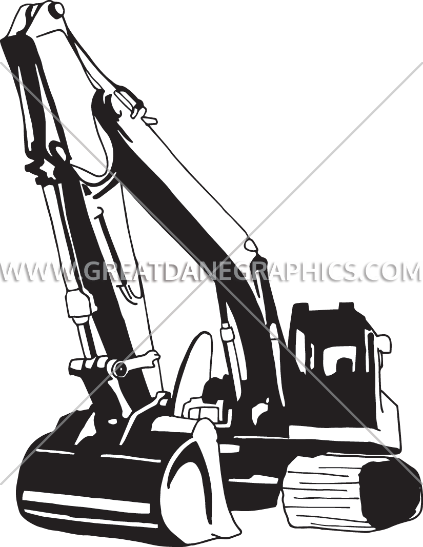 825x1067 Backhoe Production Ready Artwork For T Shirt Printing