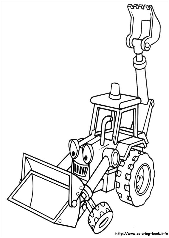 567x794 The Builder Coloring Picture