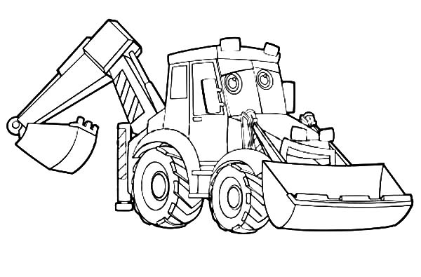 Backhoe Drawing At Getdrawings Com