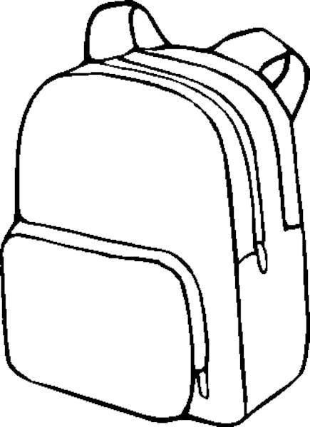 435x600 Backpack Clipart 5 Planning And Printables