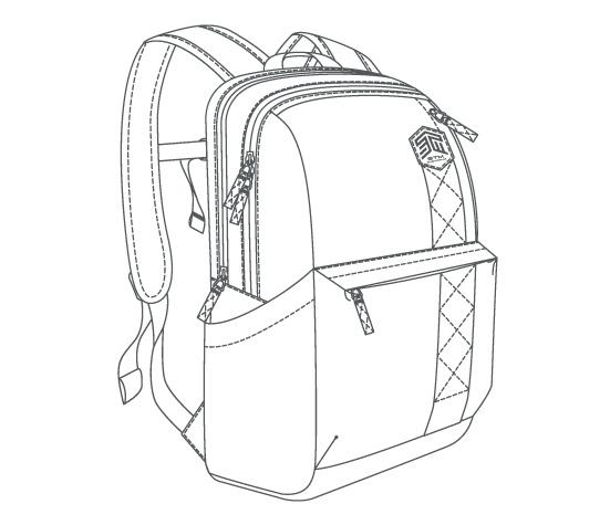 Backpacks Drawing
