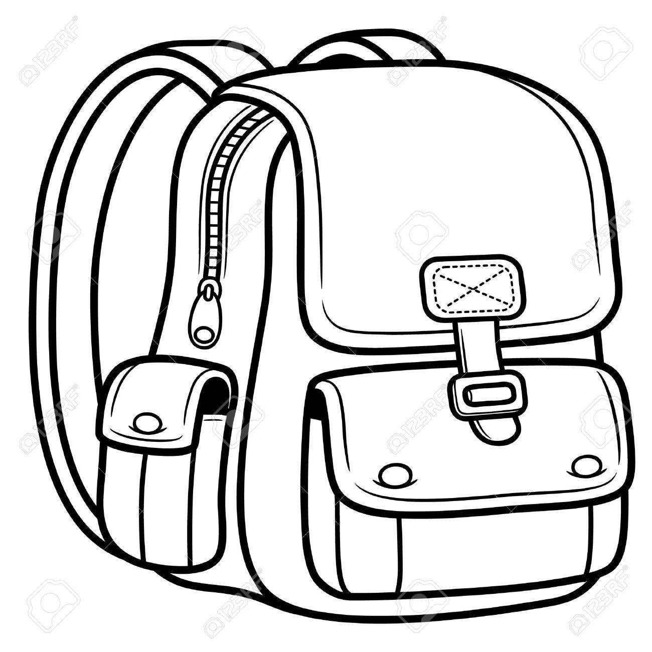 1300x1300 19717263 Vector Illustration Of School Bag Back To School