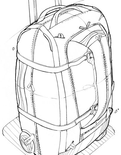 411x527 27 Best Rendering Images On Backpacks, Product Sketch