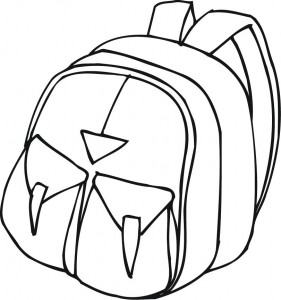281x300 Printable Outline Of A Backpack With Pockets