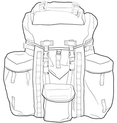 380x400 Rucksac Backpack Sketches Hiking Backpack, Fashion