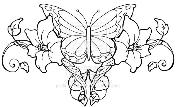 600x368 Drawings Of Hearts Tattoo Butterfly Lowerback Tattoo 25