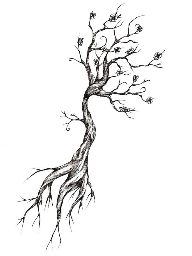 660x882 Tree Drawing 10 Tree Drawing Tattoo