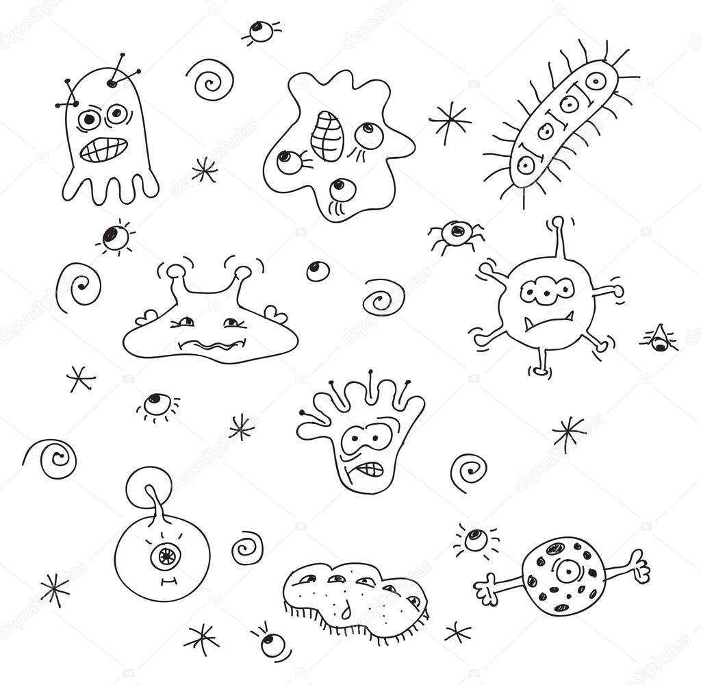 bacteria drawing at getdrawings com
