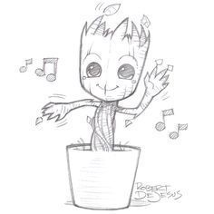 236x236 10. groot on his cutest is never a bad thing to draw Cool Things