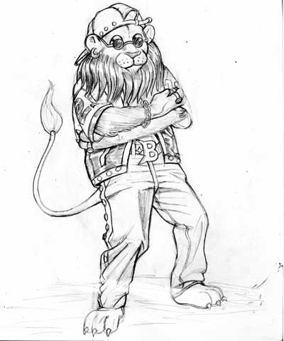 400x479 Bad Boy Lion Pencil Sketch Copy By Stainywayne