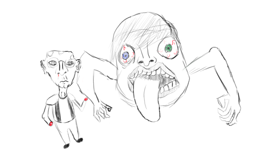 876x515 Bad Drawing Of An Old Man And Some Weird Thing By
