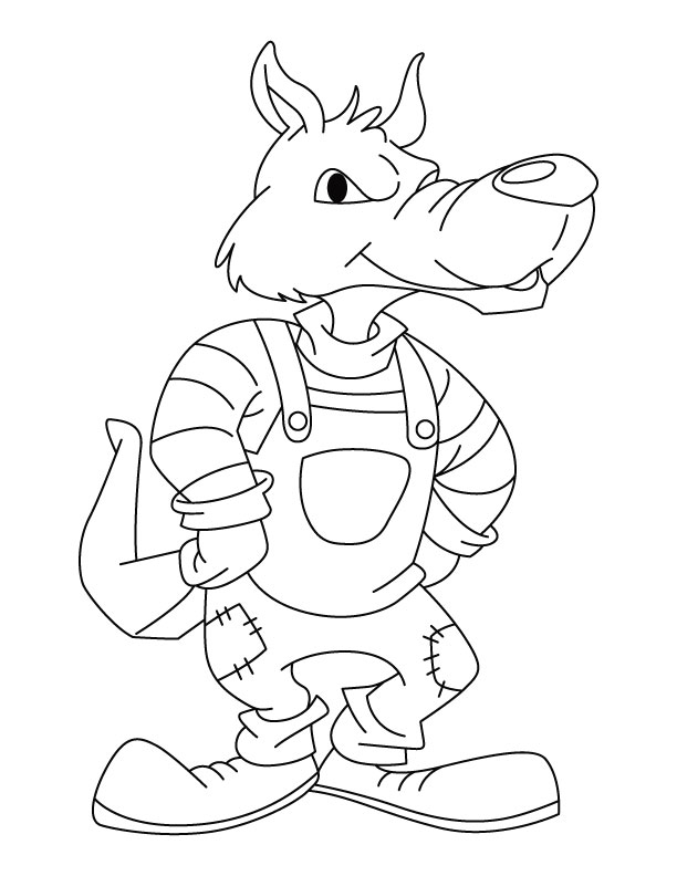 612x792 Big Bad Wolf Coloring Pages