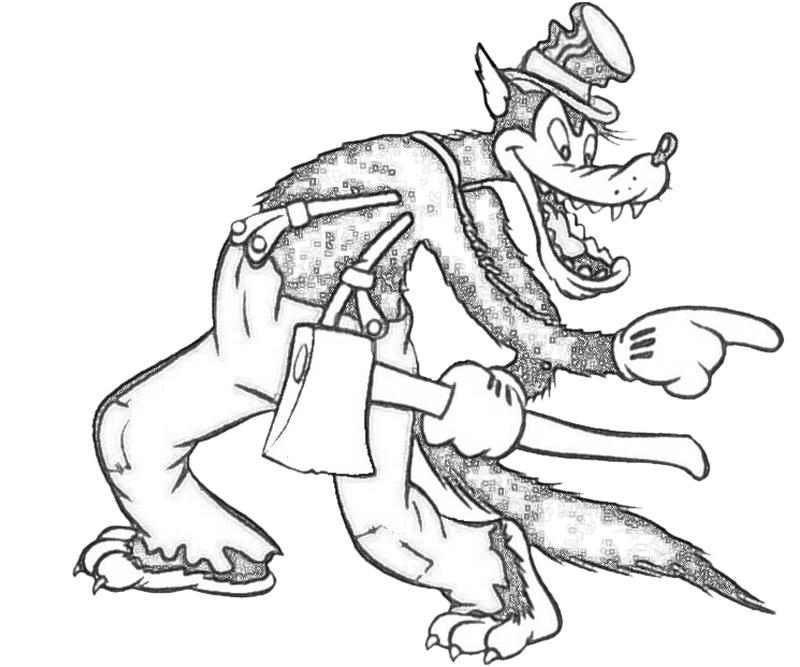 800x667 Disney Big Bad Wolf Coloring Pages Big Bad Wolf Cartoon