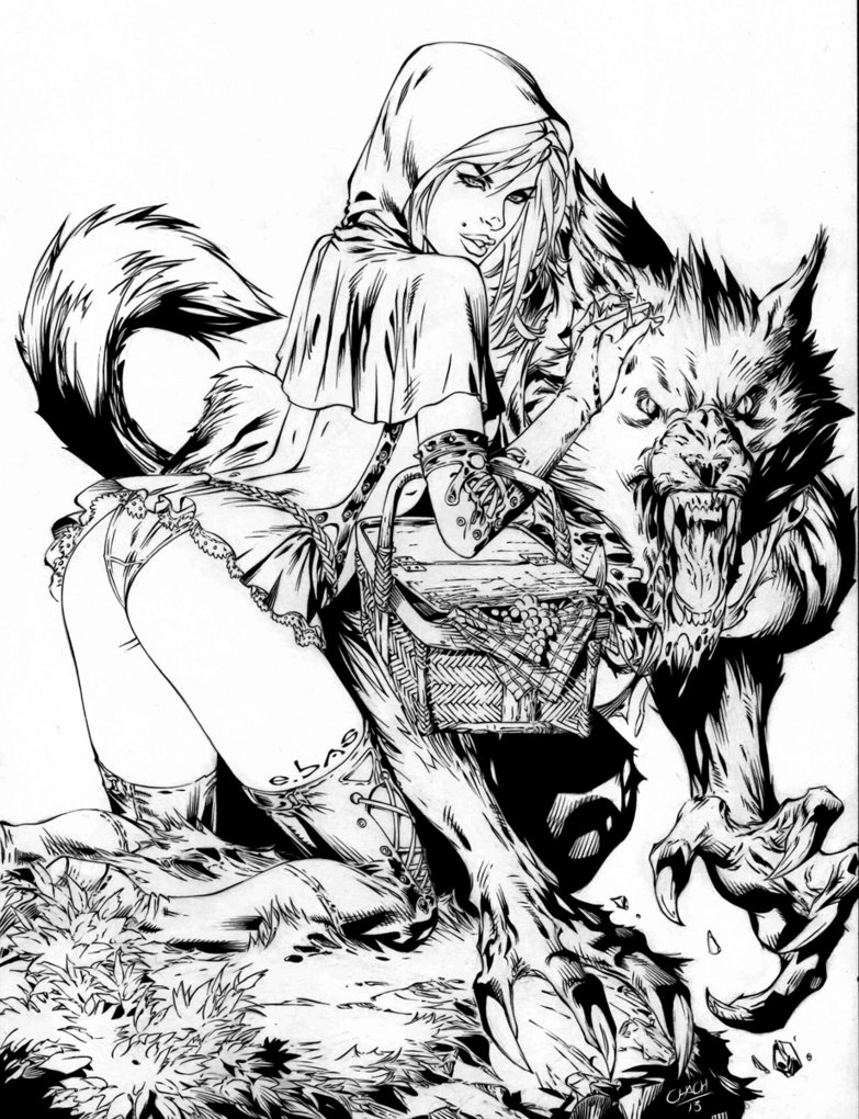 783x1020 Big Bad Wolf (Ink Of Ebas' Pencils) By Chachava