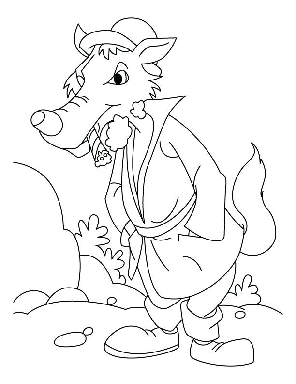 612x792 Awesome Various Big Bad Wolf Coloring Page Print Walking After