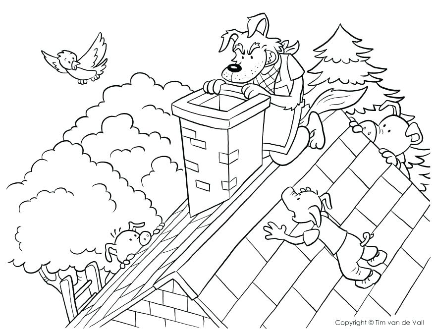 878x678 Big Bad Wolf Coloring Page The Three Little Pigs And The Big Bad