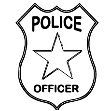 230x230 Police Badge Coloring Page