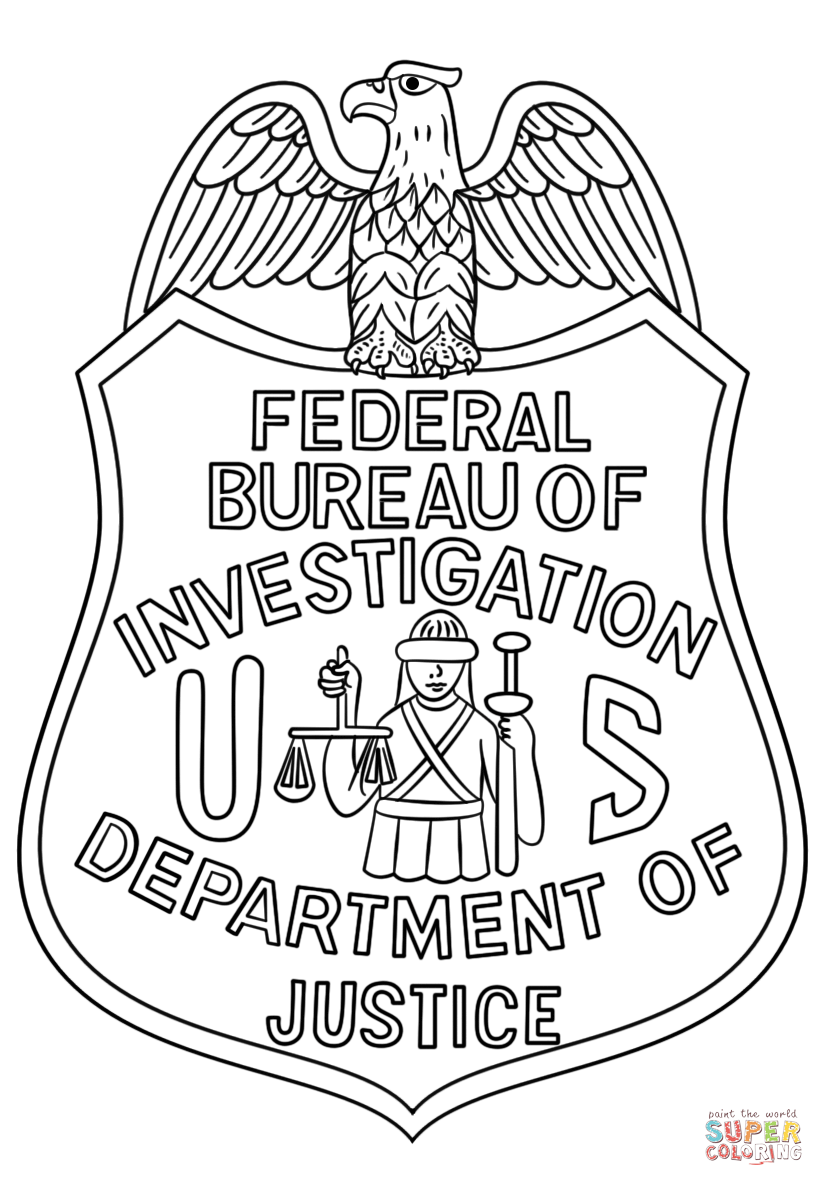 824x1186 Fbi Badge Coloring Page Free Printable Coloring Pages