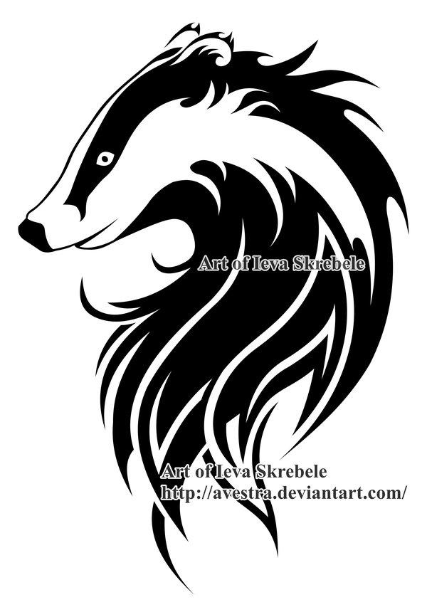 600x860 European Badger Logotype By Avestra
