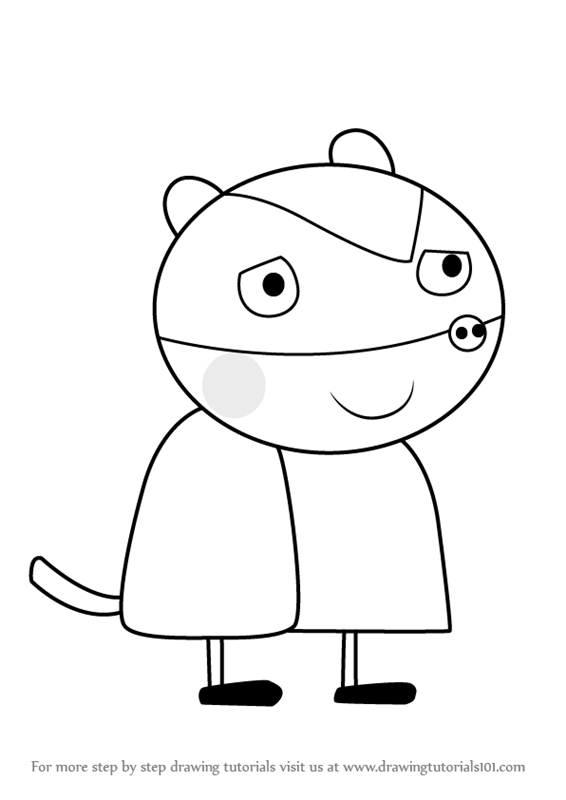 566x800 Learn How To Draw Betty Badger From Peppa Pig (Peppa Pig) Step By