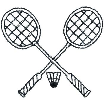 350x350 Badminton Outline Embroidery Designs, Machine Embroidery Designs
