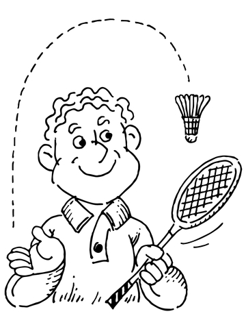 360x480 Badminton Player Coloring Page Free Printable Coloring Pages