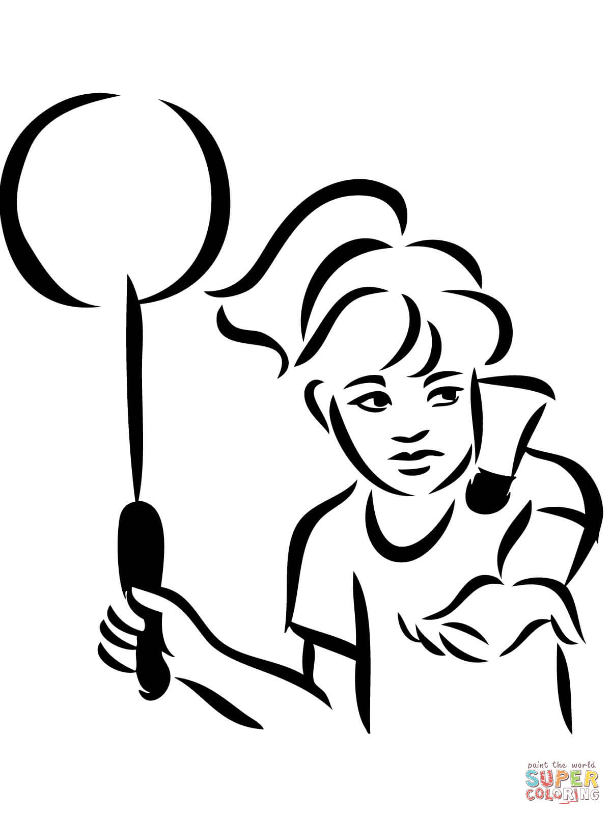1200x1600 Badminton Serve Coloring Page Free Printable Coloring Pages