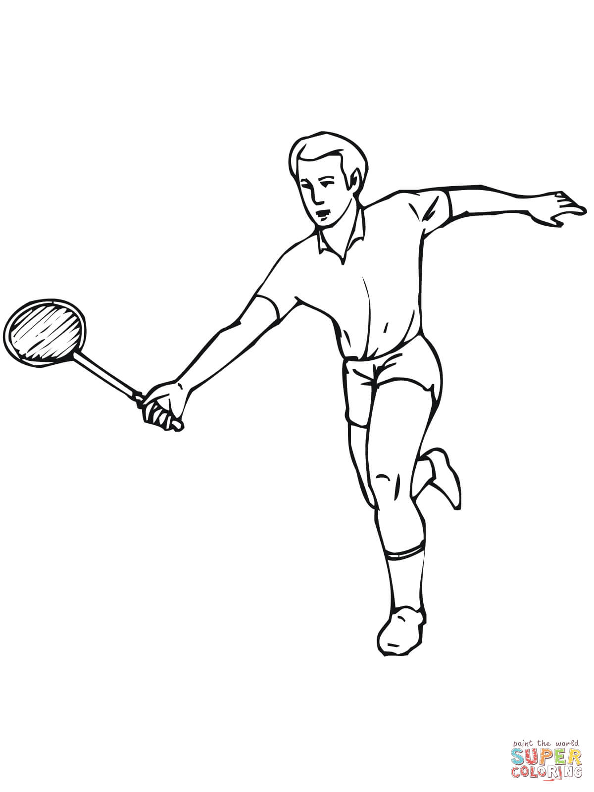 1200x1600 Badminton Coloring Page Free Printable Coloring Pages
