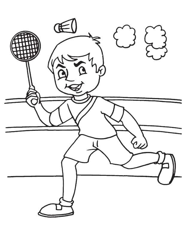 612x792 Playing Badminton Coloring Page Download Free Playing Badminton