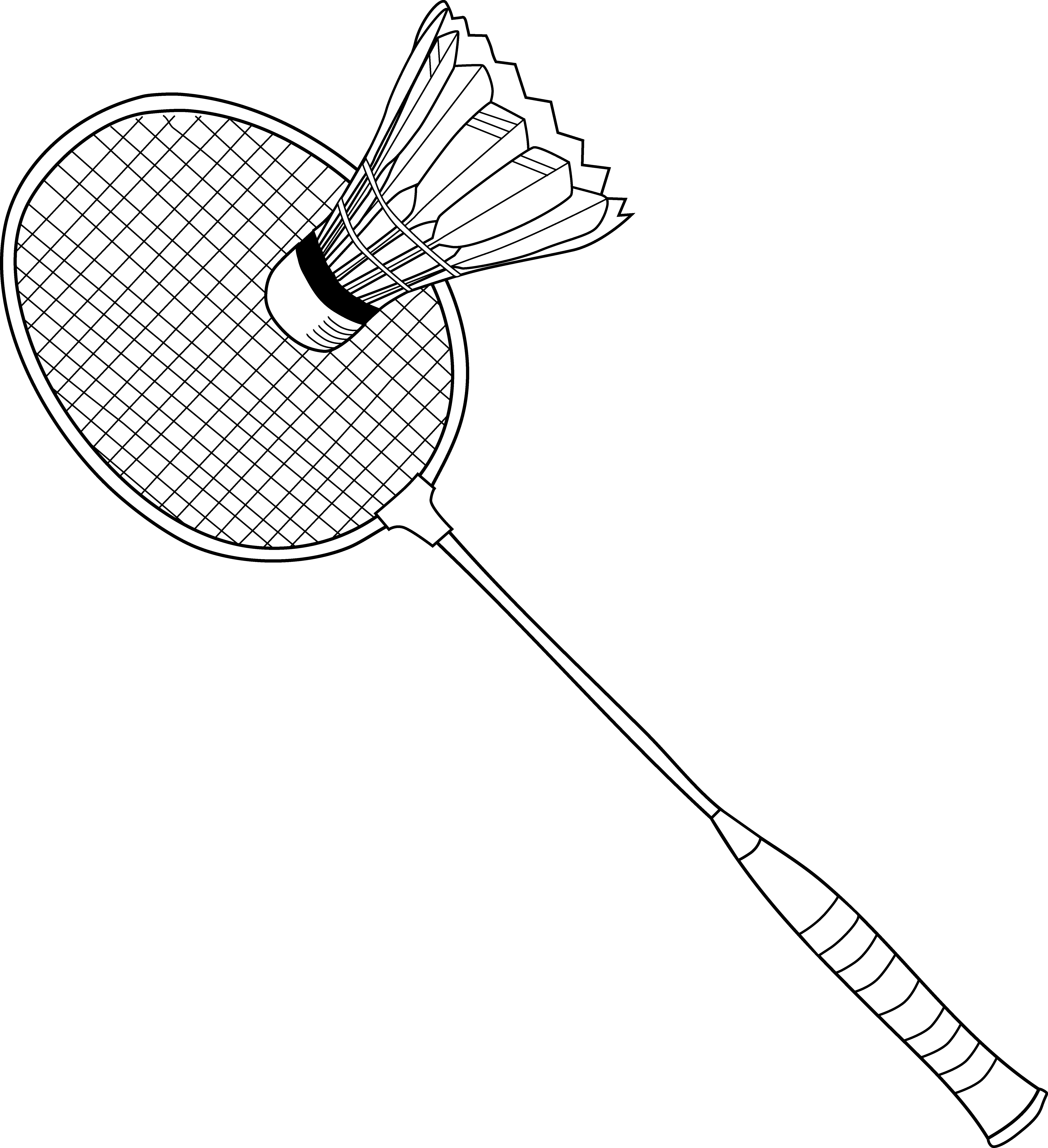 5890x6455 Badminton Coloring Page