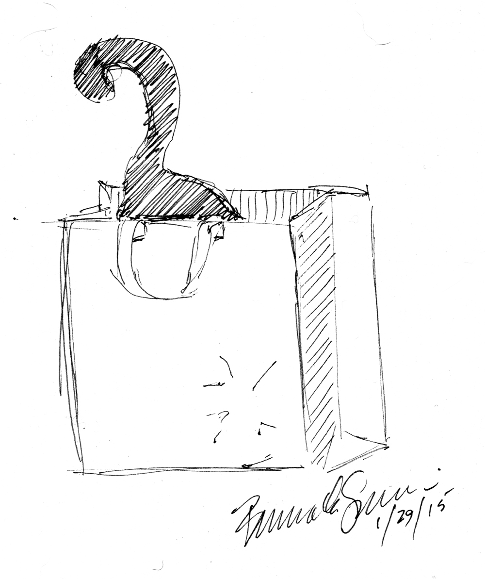 1000x1193 Daily Sketch Reprise Shopping Bag Inspector, 2015 ~ The Creative Cat