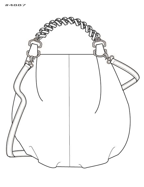 612x792 Handbag Illustration By Kim Honeycutt