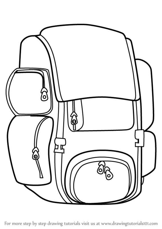 567x800 Learn How To Draw Travel Bag Easy (Everyday Objects) Step By Step