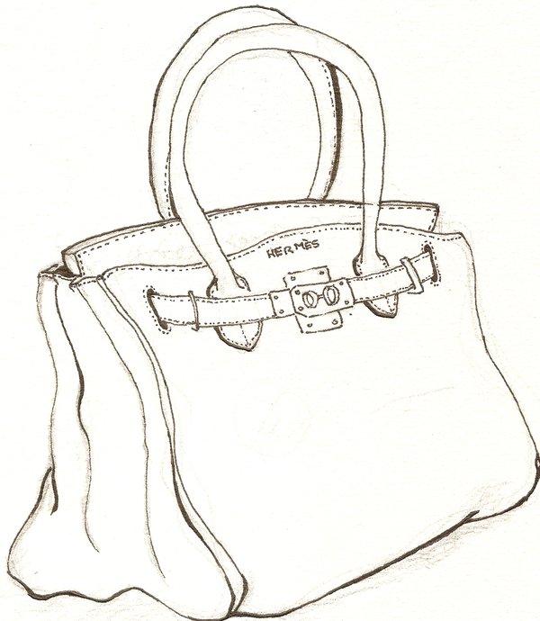600x690 Pin By Beverley Mills On Line Drawings Bag