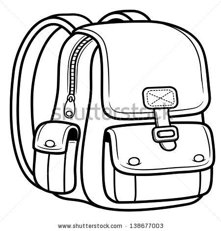 450x470 School Bag Drawing
