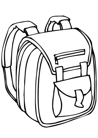 339x480 School Bag Coloring Page Free Printable Coloring Pages