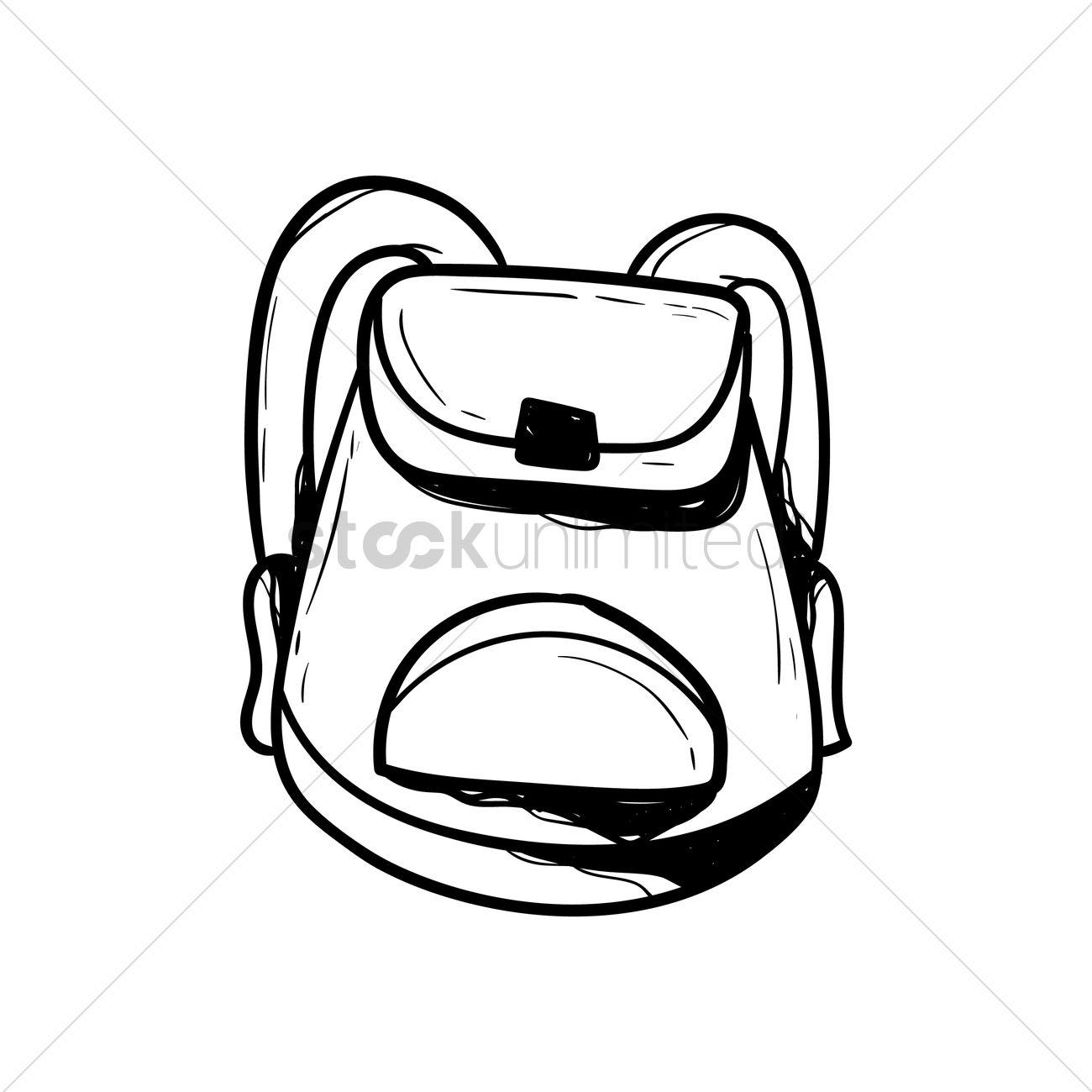 1300x1300 School Bag Vector Image