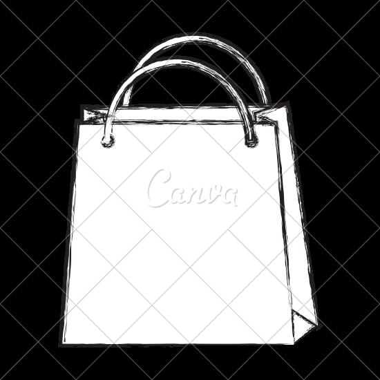 550x550 Sketch Draw Shopping Bag Cartoon
