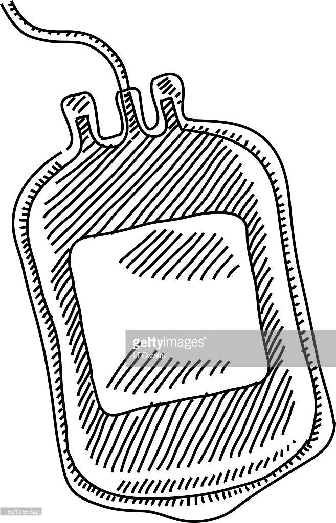 657x1024 Blood Bag Drawing