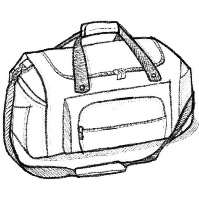 Bag Line Drawing