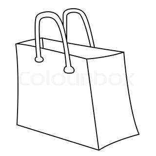 320x320 Bunny Silhouette, Design Of Shopping Bag Stock Vector Colourbox