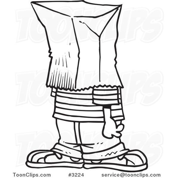 581x600 Cartoon Blacknd White Line Drawing Ofn Embarrassed Boy