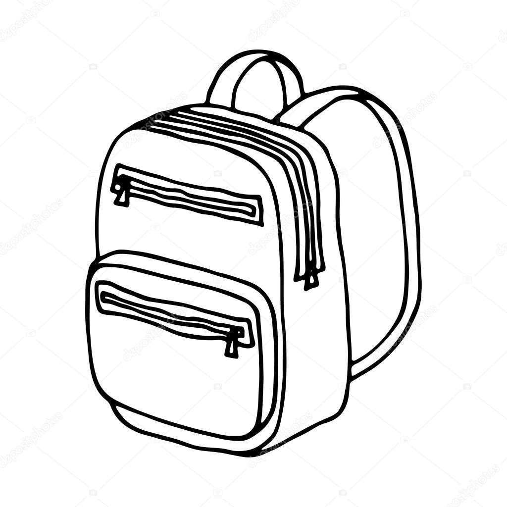 1024x1024 School Bag Isolated Stock Vector Arnica83