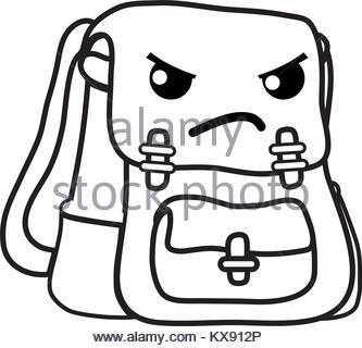 333x320 School Bag Line Drawing Stock Vector Art Amp Illustration, Vector