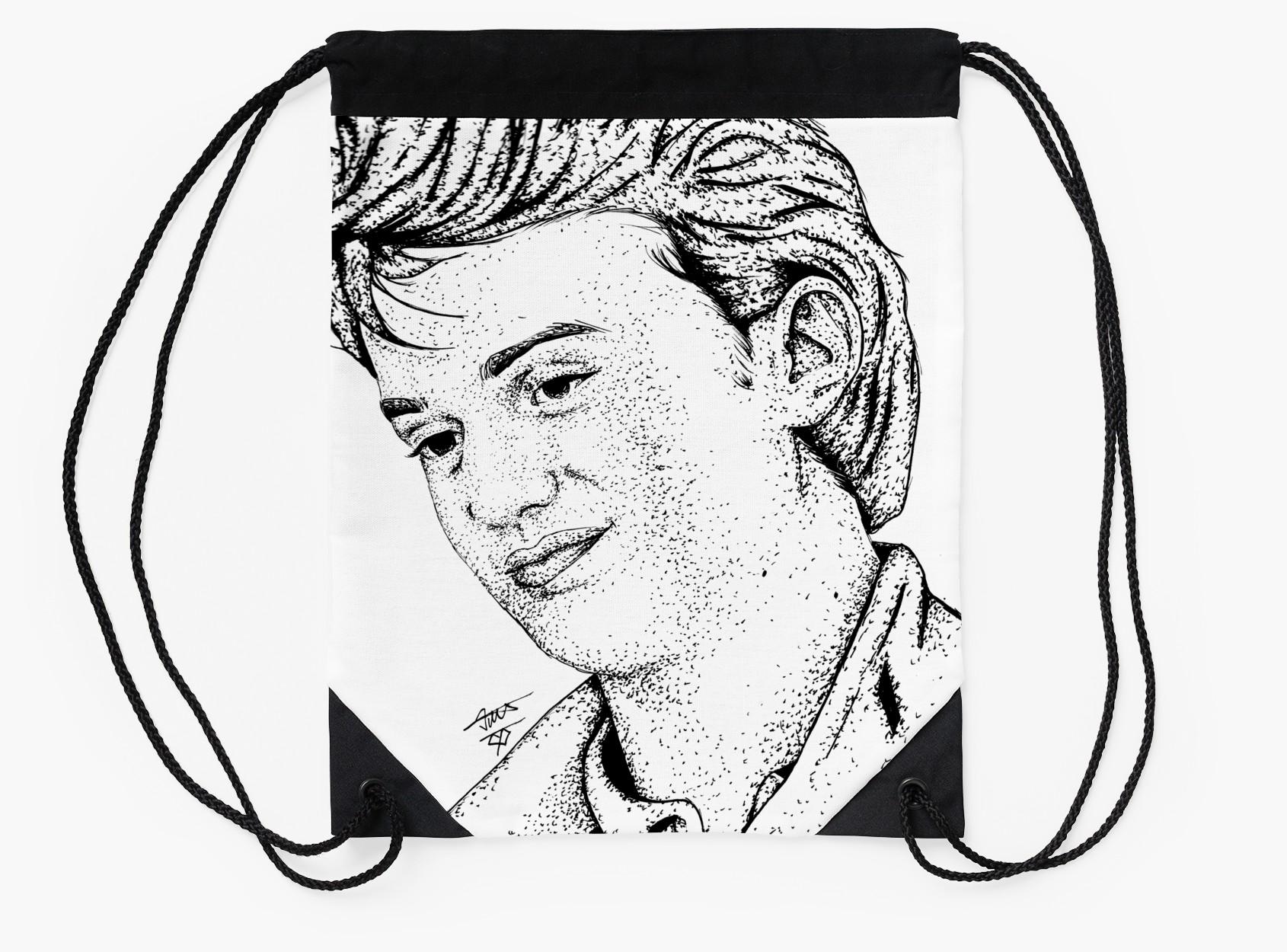 1690x1250 Steve Harrington Drawing Art Drawstring Bags By Themadsketcher