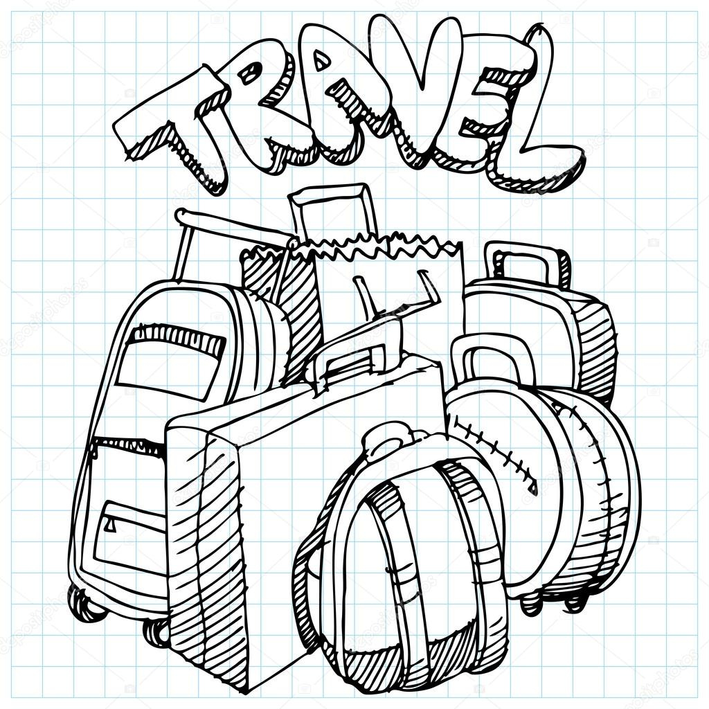 1024x1024 Travel Bag Drawing Stock Vector Cteconsulting