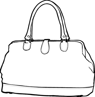 400x410 Bag Clipart Line Drawing